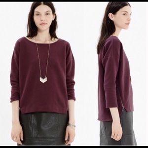 Madewell Merlot Wine Maroon Small Sweater Top